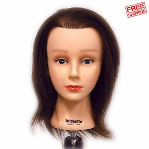 "Celebrity Bridgette Budget Cosmetology Human Hair Manikin Manneqiun 16-17"" Long"