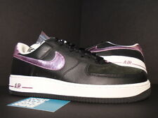 2006 Nike Air Force 1 Low BLACK PERFECT PINK FOIL WHITE 307109-065 NEW 12 10.5
