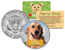 Golden Retriever * Dog * Jfk Kennedy Half Dollar Colorized Coin -Limited Edition