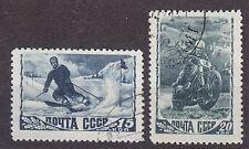 RUSSIA SU 1948(1956) USED SC#1253A/54A Typ II #ВР.#ГР  Sport - Slalom, Motor.