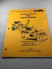 LeeBoy 400 Vibratory Roller Operation & Parts Manual Book