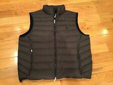 Polo Ralph Lauren Men's Grey Heather WaterRepellent Packable Puffer Down Vest XL