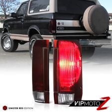 "89-96 Ford F150 F250 F350 | 92-96 Bronco ""DARK SMOKE RED"" Rear Brake Tail Light"