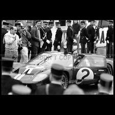 Photo A.013063 FORD GT 40 MK2 BRUCE MCLAREN 24 HEURES LE MANS 1966