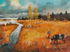 AUTUMN FAIRY TALE Painting by Mark KREMER (b.1928), Original oil landscape