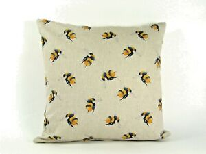 """Bee Linen Cushion/Scatter Cover Filled/Unfilled 18"""" 20"""" 22"""" 24"""""""