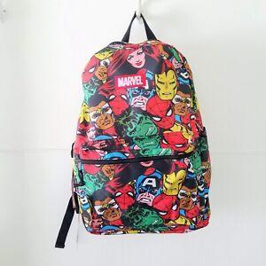 Marvel Avengers Backpack All Over Print Spiderman Hulk Ironman Captain America