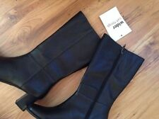 New 🌷CLARKS 🌷Shoes Size 5 LODGE Mid Wider CALF Black Leather Boots (EU38)
