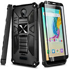 Case For Wiko Ride 2, Full Body Kickstand Phone Cover + Tempered Glass Protector