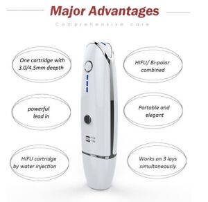 Portable Vmax HIFU Face Lifting Ultrasound Machine 3.0-4.5MM Wrinkle Removal CE