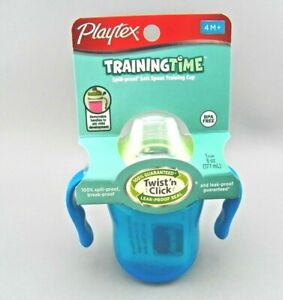 Playtex Training Cup 6 oz Training Time Spill Proof Soft Spout NEW