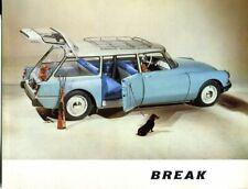 Citroen ID19 Break French market sales Brochure 1961