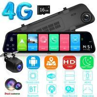 "12 ""4G Android 8.1 Auto DVR GPS Nav Nachtsicht Rückspiegel Dash Cam w / 16GB"