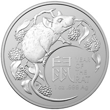 RAM Australien Lunar Jahr der Ratte Year of the Mouse Rat 2020 1 OZ Silber