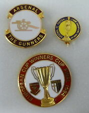 ARSENAL FOOTBALL Enamel Pin Badges x 3 inc THE GUNNERS CHAMPIONS 1988-89 & PARMA