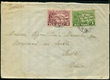 New Guinea 1929 (Nov.1) cover to France with 1d & 2d Huts tied...