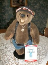 "Teddy Bear Harley Davidson 14"" Tiny Franklin Mint Motorcycle Biker"