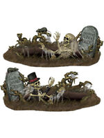 """2 Count 34"""" x 5' 3"""" Doomed Groom And Buried Bride Props Halloween Decorations"""