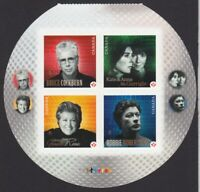 CANADIAN RECORDING ARTISTS = Lower Booklet page of 4 Canada 2011 #2483 MNH