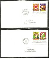 US SC # 3821-3824  Christmas Music makers FDC . No Cachet