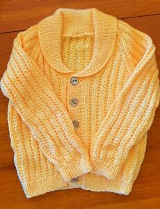 HAND KNITTED BOY'S CARDIGAN - SUIT3 - 4 years - NEW NEVER WORN.
