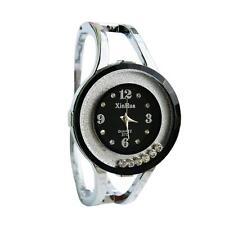 Women Fashion Design Bangle Watch Quartz Wrist Watch Suitable for Dress Black 0d
