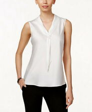 Tahari Asl Sleeveless Tie-Neck Blouse Size XL #C297 MSRP $56.00