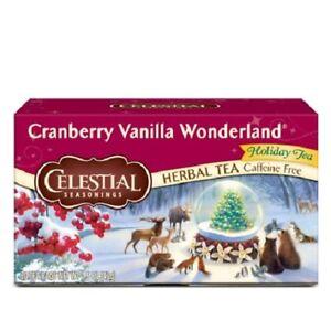 Celestial Seasonings Tea Cranberry Vanilla Wonderland