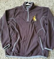 antigua rodeo 1/4 Zip Up Brown Large pullover long sleeve sweater
