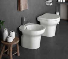Sanitari per bagno Jo water bidet e coprivaso bianco lucido di Ceramica Cielo