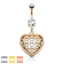 Cubic Zirconia Navel 16g (1.2 mm) Body Piercing Jewellery
