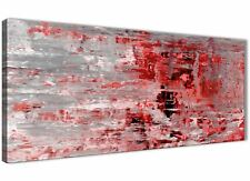 Red Grey Painting Living Room Canvas Accessories - Abstract 1414 - 120cm Print