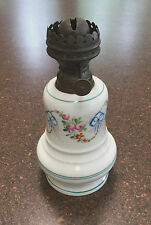 Antique Small Hand Painted French Oil Lamp - Brevete Paris