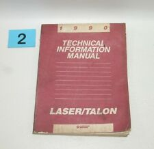 1990 Plymouth Laser Eagle Talon Technical Information Manual USED CONDITION #2