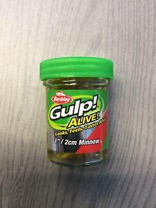 "Berkley 1160750 Gulp! Alive! Chartreuse Shad Minnow 1"" Soft Bait Fishing Lure"