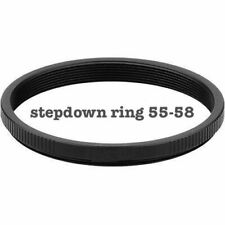 55-58 adapter ring to use 58mm lenses on 55mm thread lens