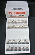 24 - Juno TL201WH TRAC 12 White T3 Lampholder w/Aluminum Reflector 12/24v New