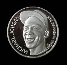 1994 MICHAEL JORDAN 999 Silver Coin Birmingham Barons The Last Dance LOW# 3304