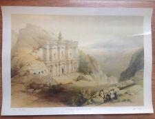"""David Roberts Lithograph - Petra """" El Deir """""""