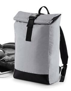 BagBase Reflective Roll-Top Backpack BG138 NEU