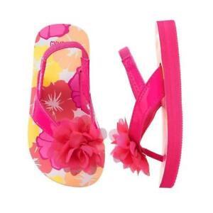 NWT Gymboree Pink Floral Rosette Flower Flip Flops 5-6