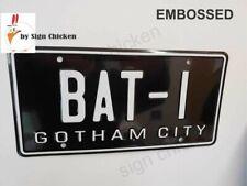 """Batman / 1966 Batmobile / BAT-1 *EMBOSSED * Replica Prop License Plate , 6 X 12"""""""