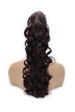 55.9cm Queue De Cheval Pince en Extensions de Cheveux Bouclé prune foncé 99J/1