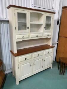 H42023 Timber Cream Kitchen Cabinet Cupboard Dresser