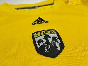 VTG 90's Adidas COLUMBUS CREW Yellow MLS Soccer Jersey Men's XL VGUC!