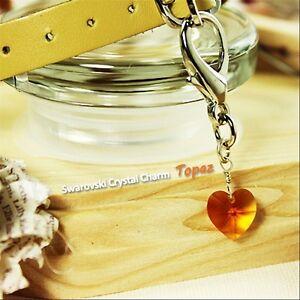 Dog/Cat Luxury Cute Collar Charm-Topaz Swarovski Crystal Heart PetAnimal Diamond