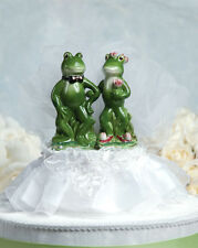 New Funny Frog Prince & Princess Bride and Groom Wedding Cake Topper
