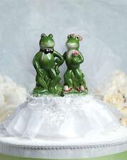New Funny Frog Prince & Princess Bride and Groom Wedding Cake Topper
