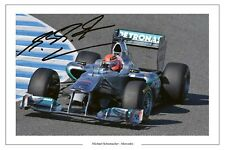MICHAEL SCHUMACHER MERCEDES F1 SIGNED PHOTO PRINT 2011