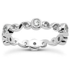 0.30 ct Ladies Round Cut Diamond Eternity Wedding Band Ring in Platinun